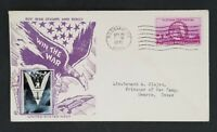 1945 Rossmoyne OH To Hearns TX Win War Buy Bonds Stamps Color Patriotic Cover