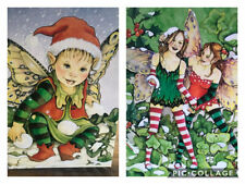 Fairy Faeries Fairies Christmas Cards Tree-Free Set of 9 Art Linda Ravenscroft