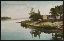 Necanicum River, Seaside, Oregon, #3961, Made in Germany, printed postcard