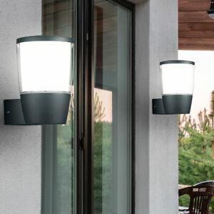 2x LED Außen Wand UP ALU Leuchte Garten Grundstück Lampe Strahler anthrazit