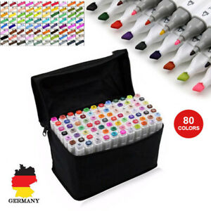 80 Farbe CopicMarker Lackmarker Stifte Architektur Twin Tip Graffiti Draw Pens