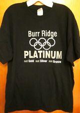 PLATINUM POOLS med T shirt Burr Ridge swimming tee Chicago spas Illinois rings
