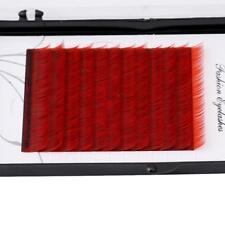 3 Colors Individual Silk False Black Eyelash Extension Makeup Lashes 12 Rows LD