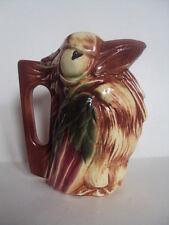 Rare! Vintage Original McCoy Pottery Parrot Pitcher/Vase. Beautifull! Look!