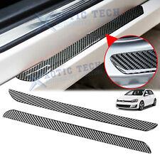 Door Plate Scuff Sill Carbon Fiber Anti Scratch Protector Sticker For Volkswagen