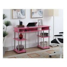 Computer Desk For Girls Writing Home Office Student Workstation Study Table Pink