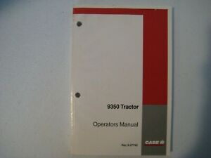 New Case IH 9350 Tractor Operator's Manual 9-27742
