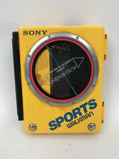 Sony Sports Walkman Wm-75 Portable Cassette Player Yellow Rare - No Power