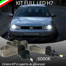 KIT FULL LED VOLKSWAGEN GOLF IV 4 LAMPADE LED H7 6000K BIANCO GHIACCIO NO ERROR