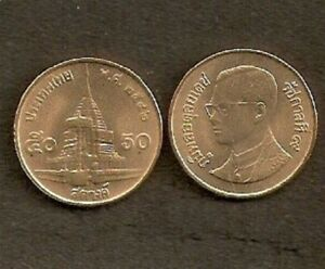 THAILAND 50 STANG Y203 1989-2002 x 100 Pcs Lot King RAMA TEMPLE UNC COIN MONEY