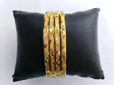 Ethnic 4PC Gold Plated Jewelry Fashion Traditional Indian 2.8 Bangles Bracelets