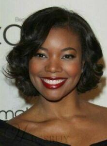 Elegant Gabrielle Union Short Dark Brown Wavy Hair Wig 10 In