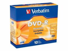 Verbatim AZO DVD-R 4.7GB 16X Branded 10-Pack Slim Jewel Case