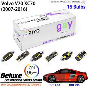LED Light Bulbs Interior Light Kit White Dome Light for 2008-2017 Volvo XC70 V70