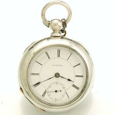 ANTIQUE ROCKFORD POCKET WATCH | 18 SIZE  4-OZ. COIN SILVER CASE KEYWIND CA1881