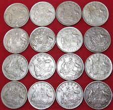 16 X VINTAGE PRE DECIMAL AUSTRALIAN SIXPENCE COINS CURRENCY