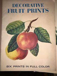 Decorative fruit prints-Complete Set 6 Prints PENN PRINTS c1950s Or 1960s