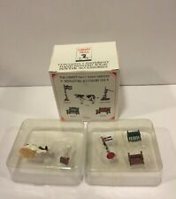 Liberty Falls 1998 Pewter Miniatures Set Of 5 Accessories Ah52 Hand Pump Cow