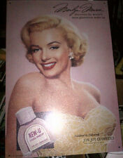 MARILYN MONROE NEW-U Liquid Make-Up TIN SIGN