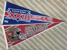 San Francisco 49ers Super Bowl XXIII Full Size NFL football Pennant (2)