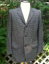 Vintage men's Oldsridge wool semi lined grey tweed jacket 40's-50's Oldsridge