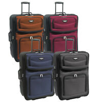 """Amsterdam 29"""" Large Lightweight Expandable Rolling Luggage Suitcase Travel Bag"""