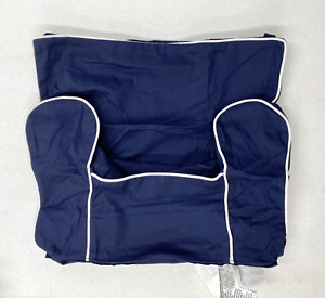 Pottery Barn KIDS My First Anywhere Chair Slipcover~Navy w/White Piping~NO MONO