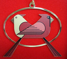 Charlie/ Charley Harper- Brass Christmas Ornament - CARDINALS CONSORTING - birds