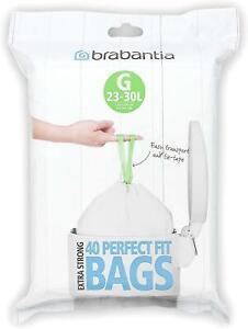 Brabantia 375668 Bin Liners, Size G, 23-30 L - 40 Bags