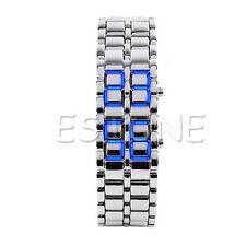 Fashion Volcanic Iron Lava Samurai Metal Faceless Bracelet LED Metal Wrist Watch