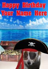 Lento Loris j658 Pirata Capitán Divertido Lindo Personalizado De Cumpleaños Tarjeta