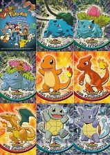 POKEMON SERIES 1 1998 TOPPS COMPLETE BLUE LOGO BASE CARD SET OF 90 AN