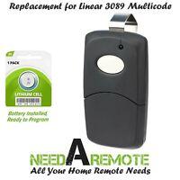 Car Visor Garage Door Remote Opener Control for Linear 3089 Multi-Code Black