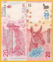 Argentina 20 Pesosp-361 2017 (Suffix A) UNC Banknote