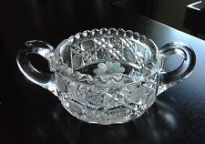 ABP Cut Glass Sugar Bowl American Brilliant Period - Fancy Motif -  Daisy