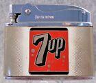 Vintage 7up Seven Up soda pop soft drink flat advertising lighter RARE NICE LQQK