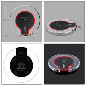 Qi Wireless Charger Charging Pad For iPhone 6, 7, plus Samsung S6, S7 Edge S8