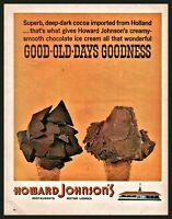1965 HOWARD JOHNSON'S Chocolate Ice Cream Cone Vintage Print AD