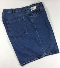 Basic Editions Medium Blue 100% Cotton Flat Denim Jean Work Shorts Men's 42W NWT