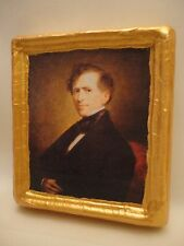 Franklin Pierce American President Gold Art Icon on Genuine Pine Wood Plaque