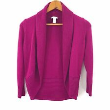 Chicos Magenta Pink Womens Open Long Sleeve Cardigan Sweater, Size XS Chicos 0