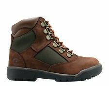 Timberland Big Kids' 6-inch Field Boots Brown/Olive 44792 a