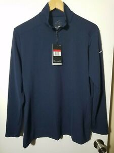 1 NWT NIKE DRI-FIT WOMEN'S PULLOVER, SIZE: LARGE, COLOR: NAVY (J69)