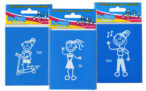 My Family Car Stickers - Young Girls - Girls - Older Girls - over 20 designs