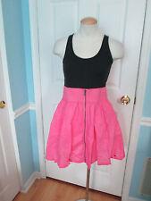 pink color block dress s    #676