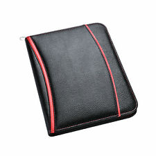 A4 Conference Folder Soft Touch Padded Executive Portfolio Black
