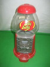 "Glass & Metal Jelly Belly Bean 9"" Red Bubble Gum Candy Dispenser - Collectible"