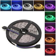 5M 300LEDs Flexible Strip RGB White Light 5050 SMD DC 12V Party Decor Waterproof