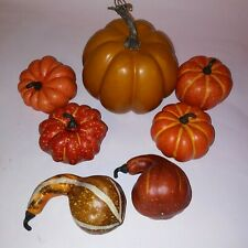 Set of 7 Pumpkins & Gourds Fall Decor Home Thanksgiving