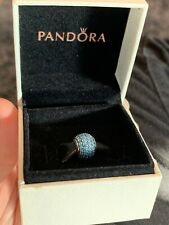 Genuine Pandora Teal Green / Blue Pave Ball Charm S925 ALE With Original Box